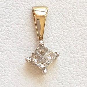 Jewelry - .32 ctw princess cuts in 10 kt YG & WG pendant